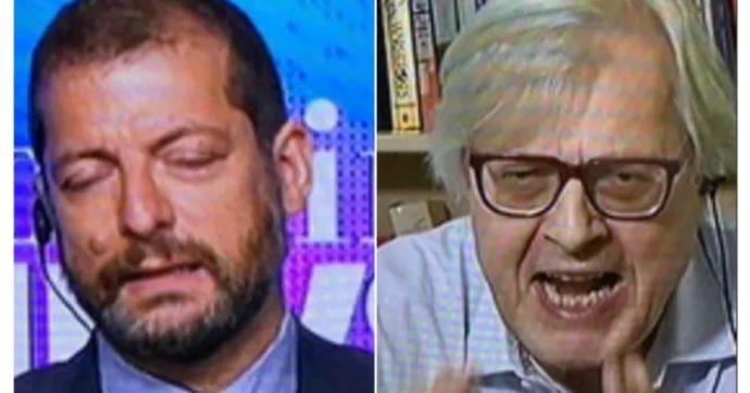 """Morning News, Vittorio Sgarbi urla furioso contro Andrea Romano: """"Ora ti faccio tacere, co***ne! Bugiardo, imbecille"""""""