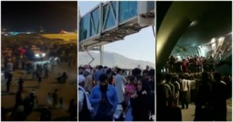 Caos all'aeroporto di Kabul, in migliaia cercano di fuggire dall'Afghanistan invadendo le piste e arrampicandosi sui velivoli: le immagini – VIDEO