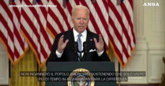 """Biden: """"Non passerò questa guerra a un quinto presidente. Missione contro il terrorismo è stata un successo, quella di cambiare l'Afghanistan no"""""""