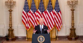 """Afghanistan, Biden archivia 20 anni d'esportazione di democrazia Usa: """"Non eravamo lì per costruire una nazione. Non faremo quello che non fanno gli afgani"""". Poi ammette: """"È caduto prima del previsto"""""""