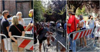 Gino Strada, centinaia di persone in fila davanti alla sede di Emergency di Milano per la camera ardente