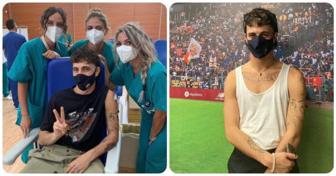 """Damiano dei Maneskin, prima il vaccino e poi allo stadio. Botta e risposta tra infermiera e No Vax: """"Sei un poveraccio"""""""