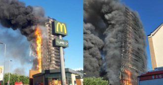 Milan, fire in a 15-storey building in the southern suburbs Mayor Sala: