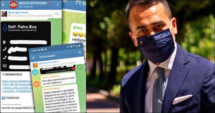 No Vax, aperta inchiesta sul canale Telegram. Di Maio bersaglio nelle chat: 'Serve il piombo'. Lui: 'Clima d'odio non fermerà vaccinazioni'