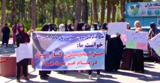 Afghanistan, a Herat donne in piazza per protestare contro i talebani e il futuro governo