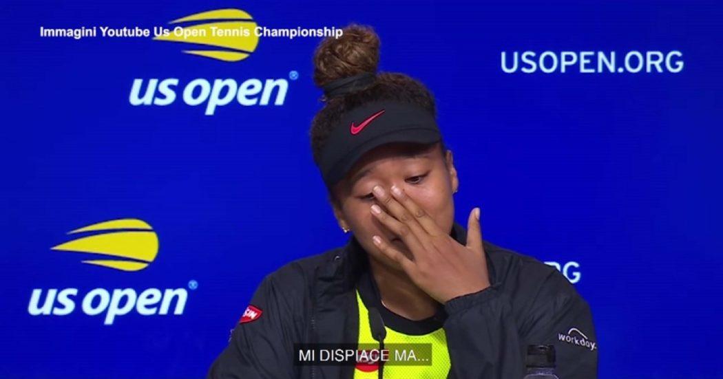Naomi Osaka eliminata dagli Us Open piange in conferenza stampa: 'Non sono più felice quando vinco'. E annuncia: 'Prendo una pausa dal tennis'