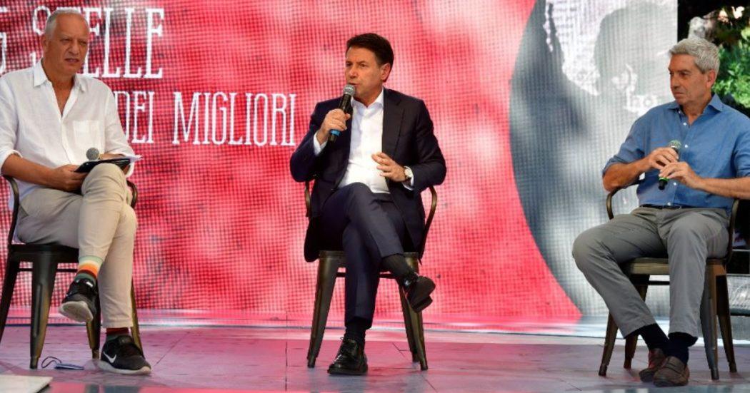 """Conte alla Festa del Fatto: """"M5s radicale nei principi e moderato nei toni. Per Meloni reddito cittadinanza è 'metadone'? Frase volgare"""""""