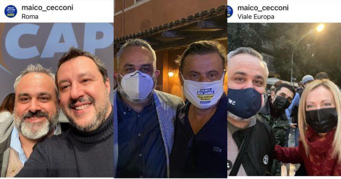 Amministrative Roma, Calenda candida anche l'ex fan di Meloni e Salvini: sui social foto con Durigon e insulti a Renzi