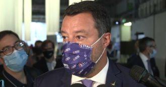 """Green pass, Salvini assicura: """"Ho parlato con Draghi, non è prevista estensione ai lavoratori. Obbligo vaccinale? Allora garantire risarcimenti"""""""