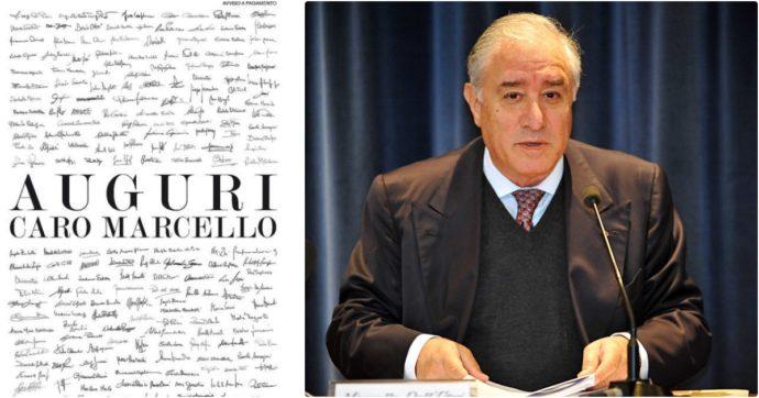 Marcello Dell'Utri compie 80 anni, gli amici si ricordano di lui: sul Corriere della Sera un'intera pagina di auguri (a pagamento)