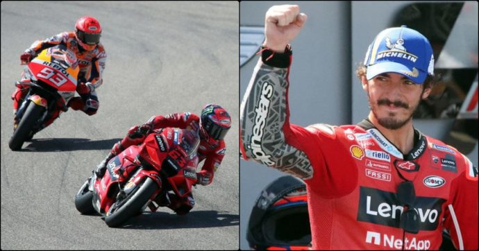 MotoGp, ad Aragon prima vittoria di Bagnaia: batte Marquez ed è secondo nel Mondiale