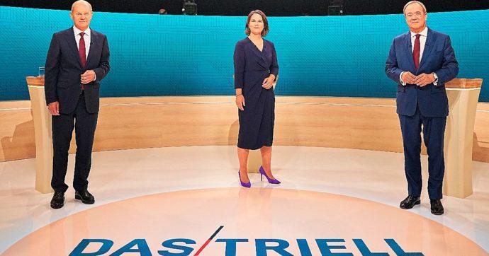 Elezioni Germania, il dibattito tv: Laschet attacca, Scholz non chiude a Die Linke e imita Merkel. Baerbock torna a parlare ai Verdi