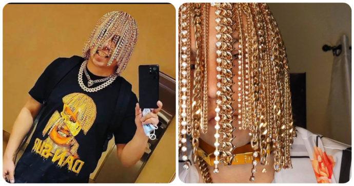 """Dan Sur, il rapper si fa impiantare catene d'oro e diamanti al posto dei capelli con degli uncini: """"Sono il primo a farlo"""""""