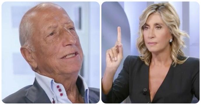 """L'Aria Che Tira, Myrta Merlino incalza Pippo Franco: """"Ti sei vaccinato?"""". Lui risponde così"""