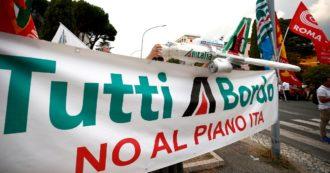 """Fallimento Alitalia, non c'è l'accordo tra Ita e i sindacati: """"A rischio 7.700mila lavoratori"""""""