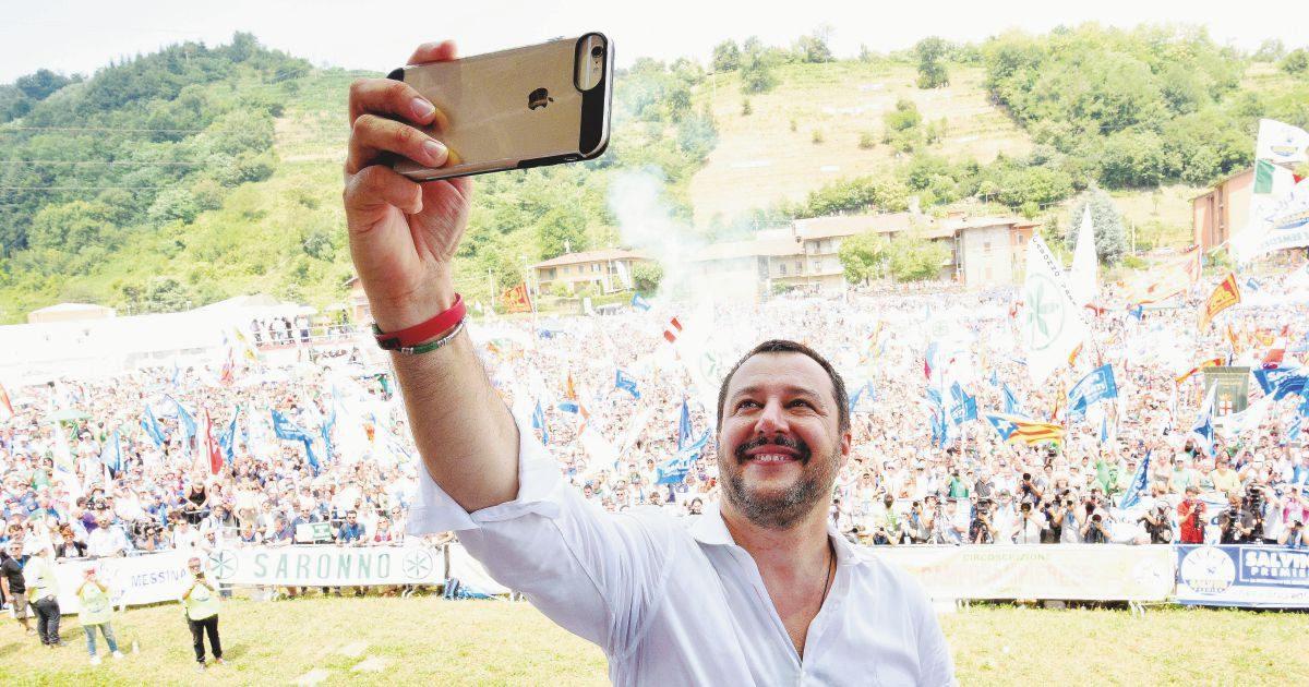 Da Pontida alla Sicilia, Salvini vuoto a perdere