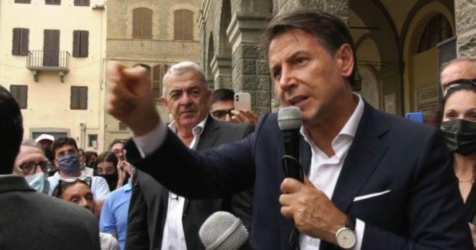 """Conte: """"Le frasi con minacce rivolte a Renzi da parte di cittadini al mio comizio? Prendo le distanze e condanno fermamente"""""""