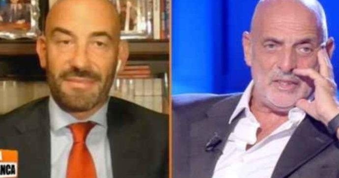 """Zona Bianca, scoppia la lite tra Matteo Bassetti e Paolo Brosio: """"Il vaccino non funziona"""", """"Vai a chiedere il miracolo a Lorudes"""""""