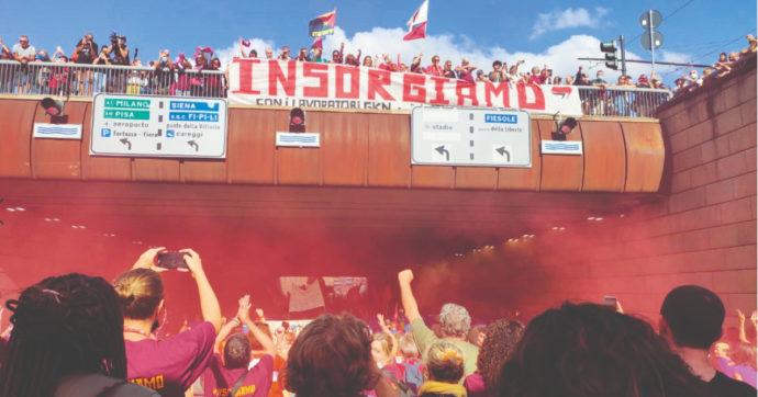 """Gkn, in 15mila in corteo a Firenze contro i licenziamenti. Fratoianni: """"Idea malsana di ripresa"""". Re David: """"Si distrugge l'industria"""""""