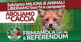 """Abolizione della caccia, l'altra proposta di referendum ora spera nella firma digitale: """"Siamo già oltre quota 200mila"""""""