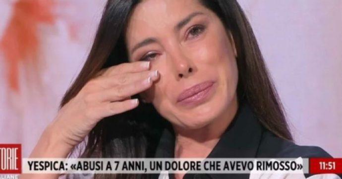 """Storie Italiane, Aida Yespica: """"Stuprata a 7 anni da un amico di mio padre, lo avevo rimosso poi mi sono ricordata tutto"""""""