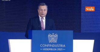 """Draghi: """"Con la curva del contagio sotto controllo, potremo allentare le restrizioni anche nei luoghi di cultura"""""""