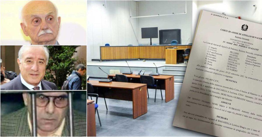 """La Trattativa """"non costituisce reato"""": assolti De Donno e Mori. Condannati per minacce solo i boss mafiosi. Marcello Dell'Utri assolto per non aver commesso il fatto"""