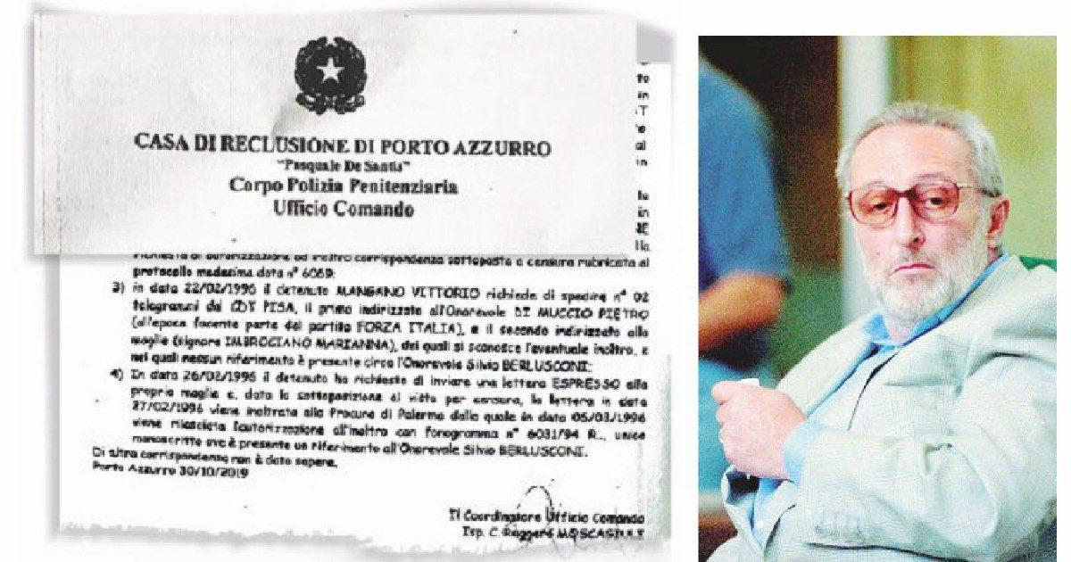 """Trattativa, la lettera di Mangano alla moglie: """"Parlò di  Berlusconi"""""""