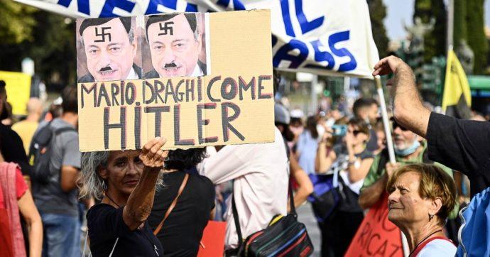 No pass, manifestazioni in molte città d'Italia. Migliaia a Roma: 10 identificati. Folla per le strade di Trieste e Torino. Disordini a Milano