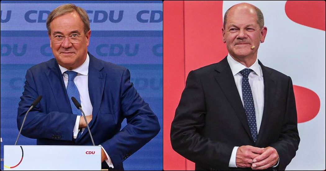 """Elezioni Germania, i risultati – La Spd primo partito e Scholz rivendica: """"Elettori mi vogliono cancelliere"""". Per la Cdu peggior voto della storia ma Laschet non molla: """"Il governo sarà con noi"""""""