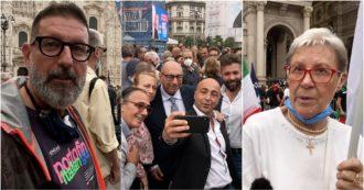 """Milano, in piazza Duomo per Giorgia Meloni anche i leghisti delusi: """"Più coerente di Salvini, è la vera leader del centrodestra"""""""