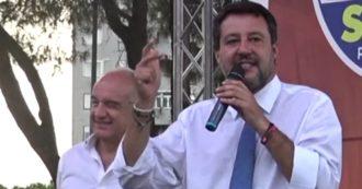 """Roma, la Lega non riempie la piazza di Tor Bella Monaca. Salvini nega divisioni interne o con Meloni, ma la base ammette: """"Momento difficile"""""""