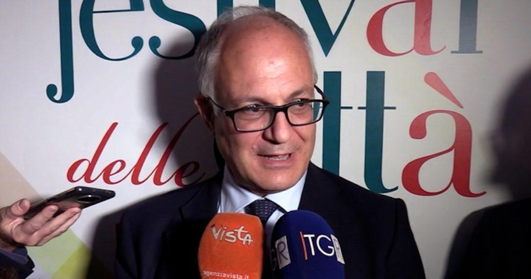 """Gualtieri: """"In caso di ballottaggio telefonerò a Conte? Certo, con lui risultati importanti. Penso sfiderò Michetti al secondo turno"""""""