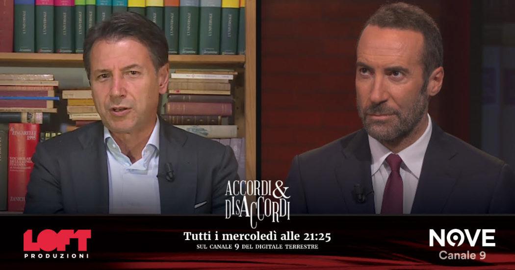 """Giuseppe Conte ad Accordi&Disaccordi (Nove): """"Base per Pil al 6% non nasce ora, ma io non ho avuto appoggio dell'establishment"""""""