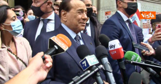 """Berlusconi goes to vote and breaks the electoral silence: """"Good result for the lists.  New PDL with Lega and Fdi but change on applications"""