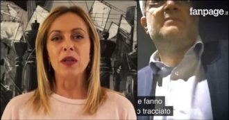 """FdI and the 'black lobby', Meloni breaks the electoral silence and attacks: """"Study everything at the table"""".  Fanpage Director:"""