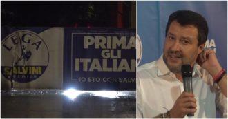 """Elezioni 2021, nella sede della Lega """"vince"""" il silenzio e regna il nervosismo. Salvini ammette """"errori"""" ma evita le domande. Il video-racconto"""