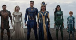 """Eternals, ecco i fragili (nuovi) supereroi della Marvel. Angelina Jolie: """"Loro sono come noi"""""""