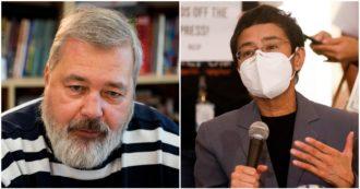 """Nobel per la Pace 2021, premio ai giornalisti anti-autoritarismo Maria Ressa e Dmitry Muratov. La reporter e le inchieste sulle Filippine. Lui è l'ex direttore di Anna Politkovskaja: """"L'avrei dato ad Alexei Navalny"""""""