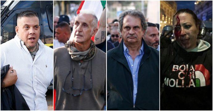L'ex Nar Luigi Aronica, i capi di Forza Nuova, il 'delfino' di Castellino e il leader di IoApro: chi sono gli arrestati per la guerriglia a Roma