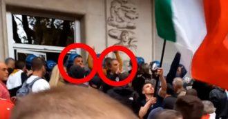 Roma, Giuliano Castellino e Roberto Fiore guidano l'assalto alla sede della Cgil: immortalati nei video che sono circolato sui social
