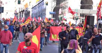 """Sciopero generale, a Genova 3mila persone sotto la sede di Confindustria: """"Draghi ascolti i lavoratori e non solo gli industriali"""" – Video"""