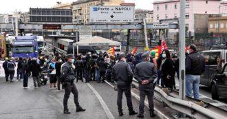 Sciopero generale, a Napoli sindacati di base bloccano l'autostrada e gli accessi al porto