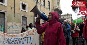 Sciopero generale, a Roma corteo di sindacati di base e studenti contro il governo. In piazza anche lavoratori Alitalia, ex-Ilva e Gkn