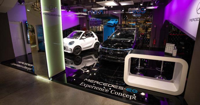 Mercedes-EQ Experience Concept, apre a Roma lo showroom dedicato alle elettriche
