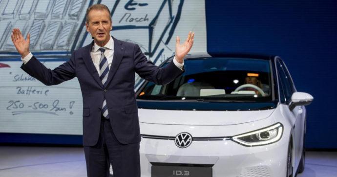 """Diess (gruppo Volkswagen): """"Via 30mila dipendenti solo in Germania come effetto del passaggio all'auto elettrica"""""""