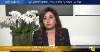 """Green pass, l'ad di Kiko su La7: """"Pagare i tamponi ai dipendenti non vaccinati? No, l'azienda e la collettività non devono assumersi questo costo"""""""