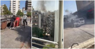 Libano, scontri a Beirut: usati anche kalashnikov e granate. Le immagini della guerriglia in strada – Video