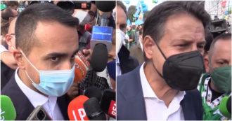 "Manifestazione antifascista, Conte: ""Grande festa democratica"". Di Maio: ""Destra assente? Spiace per loro"""