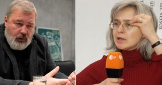 """""""Indagando sul potere in Russia si rischia la vita"""": le parole di Muratov 10 anni prima del Nobel per la pace. E Politkovskaya diceva: 'Ho paura, ma é il mio lavoro'"""